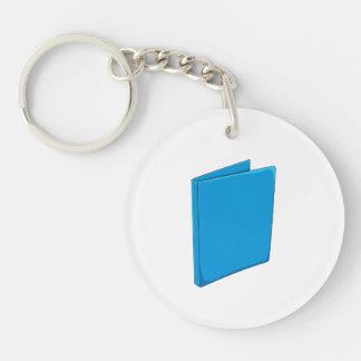Custom Blue Binder Folder Mugs Hats Buttons Pins Double-Sided Round Acrylic Keychain