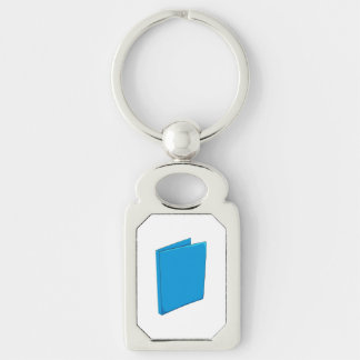 Custom Blue Binder Folder Mugs Hats Buttons Pins Silver-Colored Rectangle Key Ring