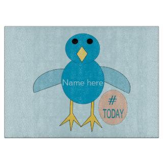Custom Blue Birthday Boy Chick Cutting Board