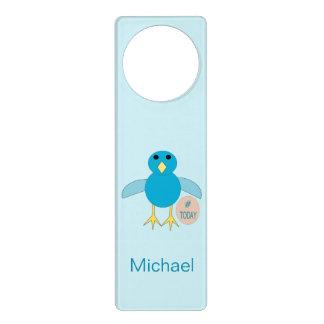 Custom Blue Birthday Boy Chick Door Hanger