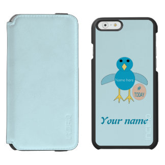 Custom Blue Birthday Boy Chick iPhone Case Incipio Watson™ iPhone 6 Wallet Case