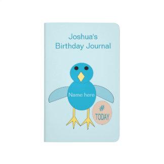 Custom Blue Birthday Boy Chick Journal