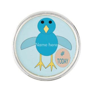Custom Blue Birthday Boy Chick Lapel Pin