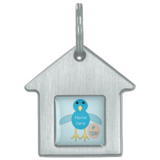 Custom Blue Birthday Boy Chick Pet Tag