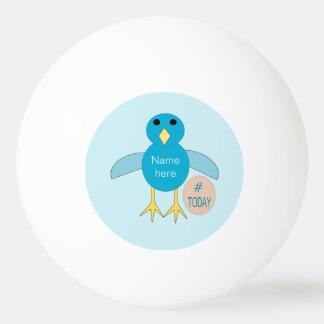 Custom Blue Birthday Boy Chick Ping Pong Ball