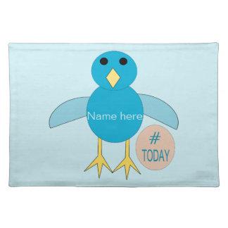 Custom Blue Birthday Boy Chick Placemat