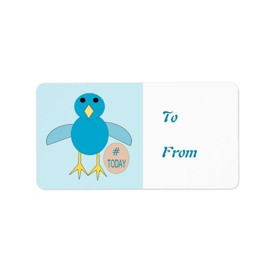Custom Blue Birthday Boy Chick Present Labels