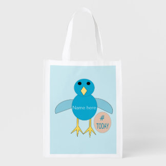 Custom Blue Birthday Boy Chick Reusable Bag