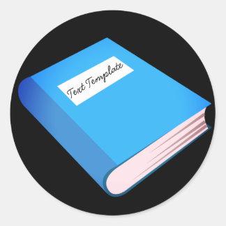 Custom Blue Book Emoji Classic Round Sticker