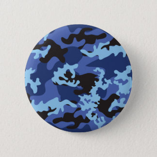 Custom Blue Camo Button