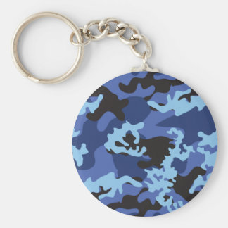 Custom Blue Camo Keychain