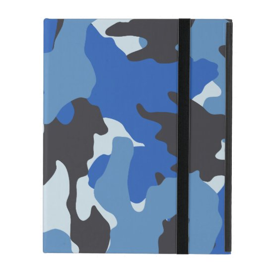 Custom Blue Camo Military Powis iCase iPad Cases