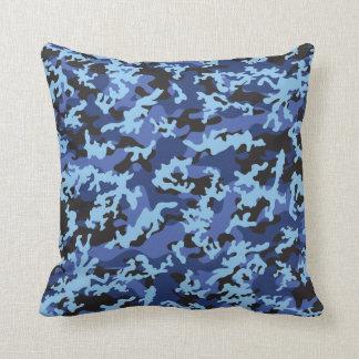 Custom Blue Camo Pillow Cushion