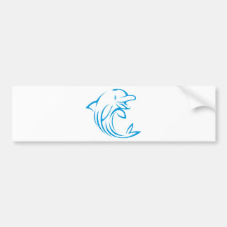 Custom Blue Dolphin Logo Bumper Sticker