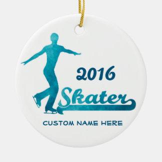 Custom Blue Figure Skating Ornament 2016