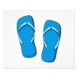 Custom Blue Flip Flops Sandals Invitation Postage Photo