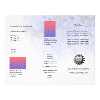 Custom Blue Leaves Light Brochure 21.5 Cm X 28 Cm Flyer