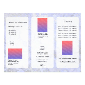 Custom Blue Leaves Light Three-Panel Brochure 21.5 Cm X 28 Cm Flyer