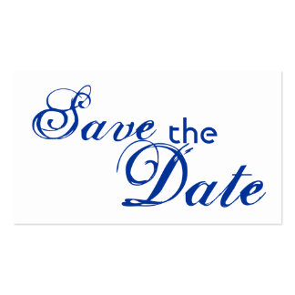 Custom blue letter save the date wedding cards business card template