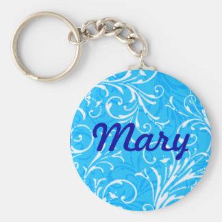 Custom Blue Ornamental Key Chain