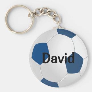 Custom Blue Soccer Keychain (Keyring)