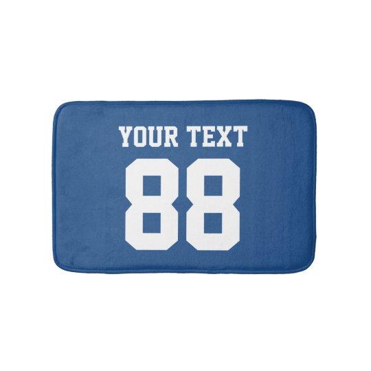 Custom blue sports jersey number non slip bath