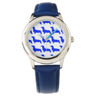 Custom blue Stainless steel Watch