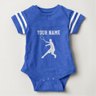 Custom blue tennis sports jersey baby bodysuit