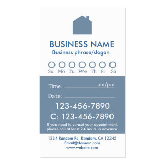 Custom blue white real estate appointment cards pack of standard business cards