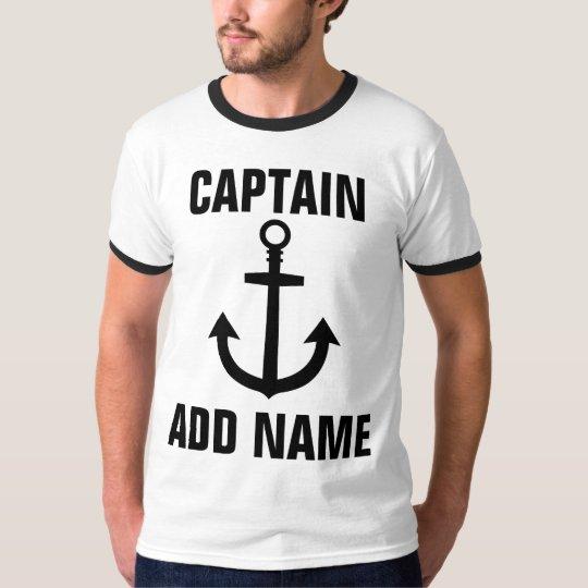 Custom Boat Captain Name Anchor Tee