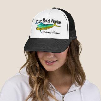 Custom Boat Name Mahi trucker hat