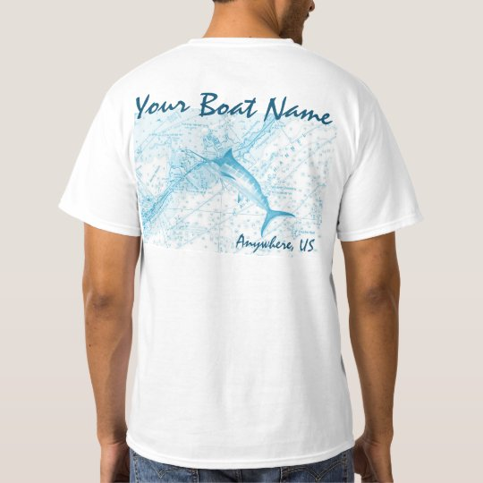 Custom Boat Name Marlin Shirt