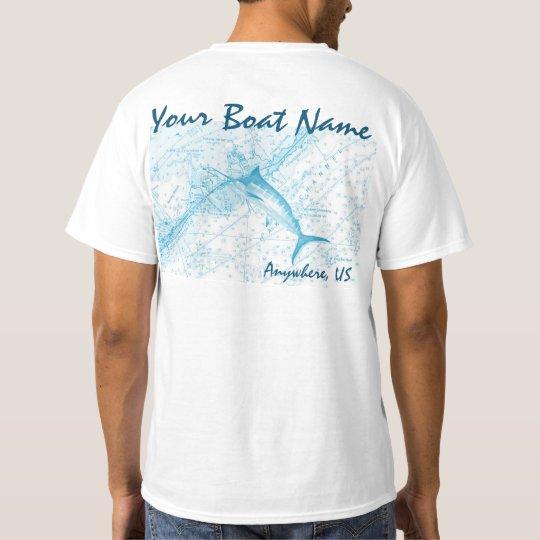 Custom Boat Name Marlin Shirt
