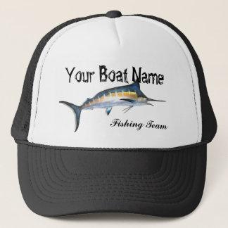 Custom Boat Name Marlin trucker hat