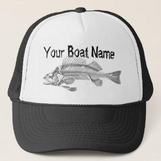 Custom Boat Name with Fish Skeleton trucker hat