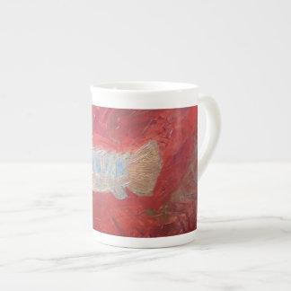 Custom Bone China Mug, 'fossil fish' Bone China Mug