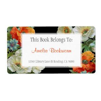 Custom Book Belongs To Poppy Cornflowers Labels