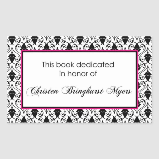 Custom book plate rectangular sticker