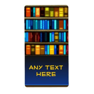 Custom Books In Shelf Bookplate Sticker Labels