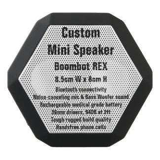 Custom Boombot REX Mini Speaker BLACK Black Boombot Rex Bluetooth Speaker