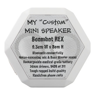 Custom Boombot REX Mini Speaker WHITE White Boombot Rex Bluetooth Speaker