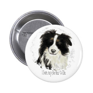 Custom Border Collie - Dog Collection 6 Cm Round Badge