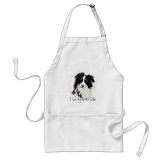 Custom Border Collie - Dog Collection Aprons