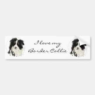 Custom Border Collie - Dog Collection Bumper Sticker