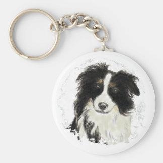 Custom Border Collie - Dog Collection Key Ring