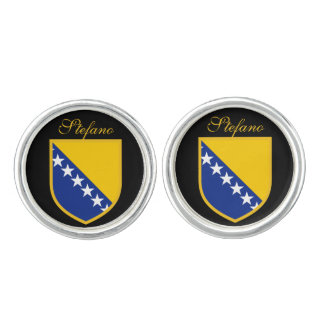 Custom Bosnia Flag Cuff Links