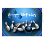 Custom Bowling Greeting Cards Postcards Cards