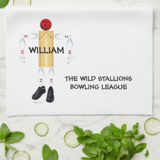 Custom Bowling League Tea Towel