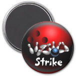 Custom Bowling Magnets Gifts Refrigerator Magnet