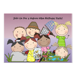 Custom Boys and Girls Nature Hike Birthday Invite